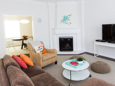 Photo for Spacious Golden Gate flat, half block to water, walkable to SF fun
