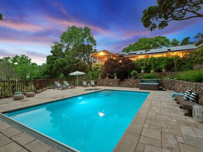 Photo for 4 acre private 3,300 sq. ft vineyard estate w/pool,  hot tub & total serenity!