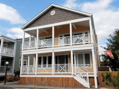 Photo for FREE ACTIVITIES!! AMAZING 6 bedroom + den/6 bath home is just steps from the beach and Bethany Beach Boardwalk!