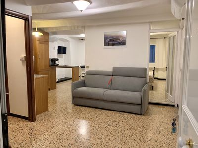 Photo for Green Sea Oasis: 114.82 ft from the sea!3 air conditioned, elevator, wifi, clean