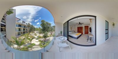 Photo for Panoramic D 202- Luxurious studio with panoramic pool By Salt- Kisses