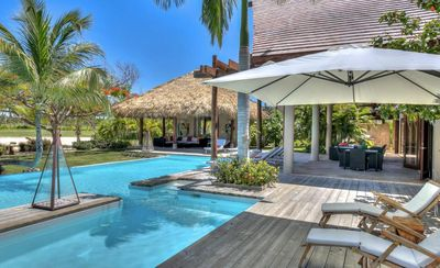 Walk to the Beach! Spacious Resort Villa with Pool, AC, Free Wifi, Maid Service, Spa, Tennis close