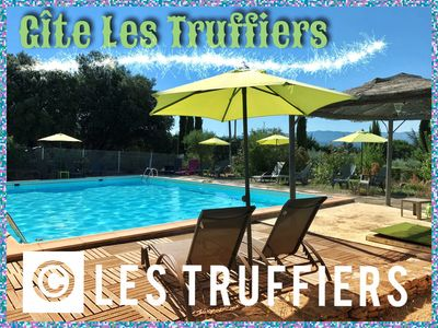 Photo for Cottage 2 stars 5/6 pers with beautiful view Luberon, swimming pool 11 X 7, Wifi, air-conditioned