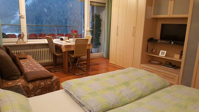 Photo for Apartment with balcony, pool, sauna, mountain views, Bergb. incl. Aparthotel / Mittelberg
