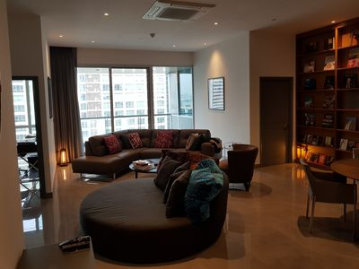 Photo for NEW LUXE 1,100sqf SERVICED condo w/Pool+Restaurant+Gym and daily MAID service