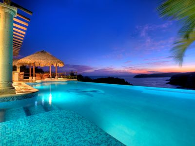 Photo for Oceanfront Villas, Las Palmas, Huatulco Beach