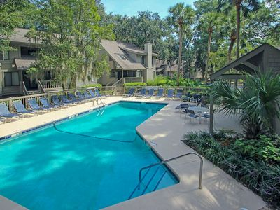 Photo for Two-story townhome w/ two shared pools & tennis - a quick walk from the beach