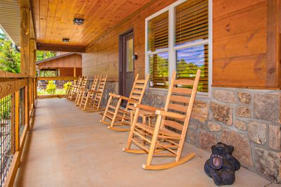 Front porch with room for many to enjoy.