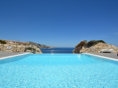 Photo for Newly built apartment on the hills of Cala Ratjada with stunning sea view