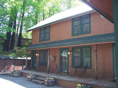 Photo for Pine Lodge 9 (The Tree House):  3 bedrooms, sleeps 6, very rustic, in town!