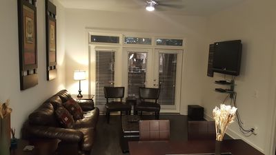 """Living area with 42"""" LCD, DVD player, Cable, Queen Sleeper, & Beautiful Views."""