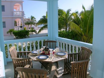 You can also dine on the veranda if you choose