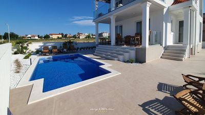 Photo for Stunning villa near Zadar right next to the beach