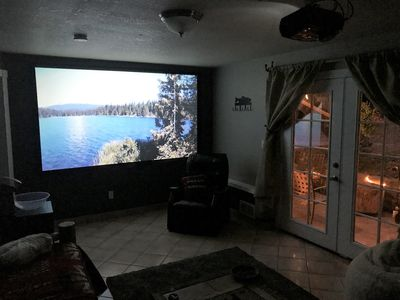 Photo for Mt Hood, Home Theaters. Sleeps 6, 2 bedroom. Private suite. Cozy lodgy feel.