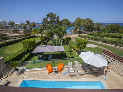 Photo for 4 Bedrooms Beachfront Villa in the heart of Protaras.