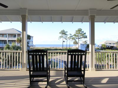 Photo for Sparkling Private Pool Gulf Front Views Sleeps 8 No Pet Fees Walk To Beach