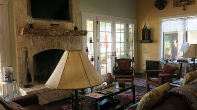 Photo for Romantic Hillcountry Retreat, very private, but only 5 minutes from Main Street