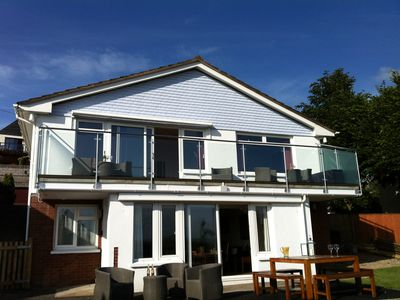 Photo for Large detached house for 10- secluded garden, stunning balcony & fantastic views