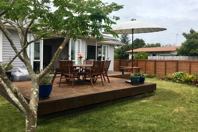Large sunny deck - perfect for BBQs