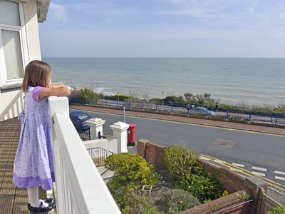 Photo for Sea Dreams - family friendly apartment with balcony and sea views