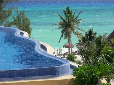 Rooftop Infinity Pool with Views to Cozumel