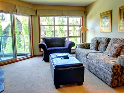 Photo for Prime Ski-in Ski-out Location! Pool, Hot tubs, BBQ, sleeps 4 (461)