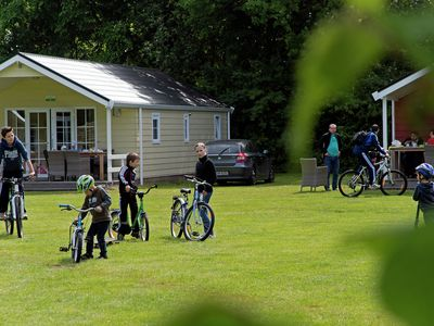 Photo for Charming lodges in child-friendly park close to the German border, with a pool