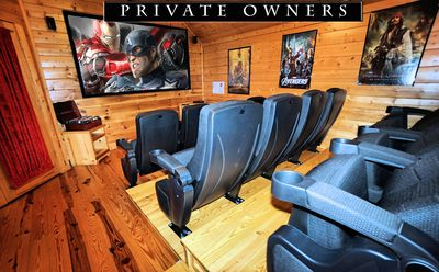 """Fantastic theater room with 100"""" screen and 12 seats!"""
