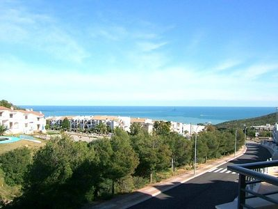 Photo for CASA DAPHAS - Comfortable apartment with communal pool, air conditioning and panoramic views