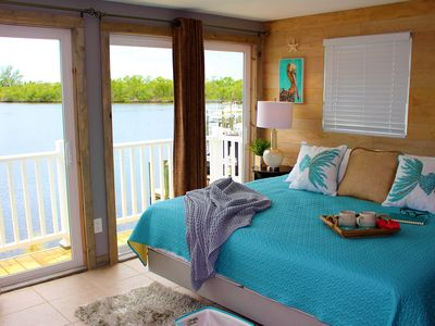 Photo for Waterfront Apartment on Little Hickory Bay, walk or bike to Barefoot Beach