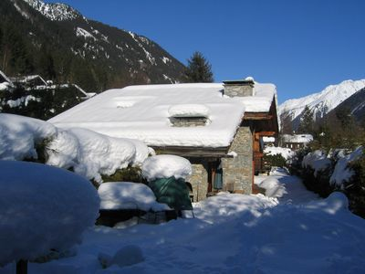 Photo for Chalet 8/9 pers. - Chamonix - Exceptional views of the Mont Blanc massif