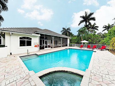 Photo for New Listing! Palatial Home w/ Pool, Hot Tub, Outdoor Kitchen — Steps to Lake