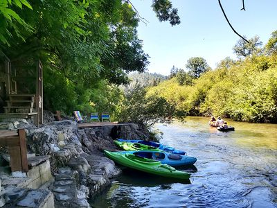 Photo for ~SUMMER SALE~Upscale GetAway@~Private Beach~Kayaks~SPA,Sauna,Basics,3-5 Nights