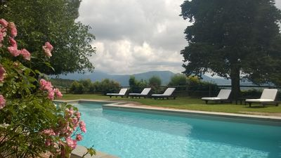 Photo for Panoramic Country-villa On The Hills 9 Km From Lucca. Pool. Wifi. 7 bed-7bath.