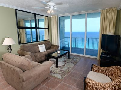 Photo for Luxury 3 Bedroom at The Palazzo unit 1402 comes with umbrella/chairs @ the beach