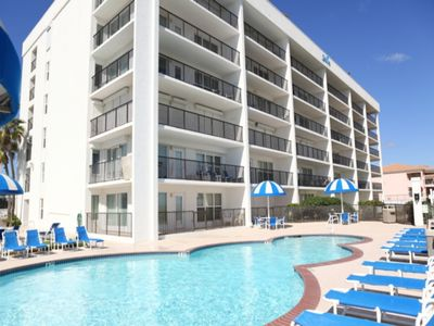 Photo for 3 bedroom 3 bath beachfront condo overlooking the pool.