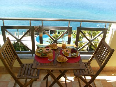 Photo for Qta of the Cliff - Seaside Living - Oceanfront Apartment w / Pool & Free Wifi