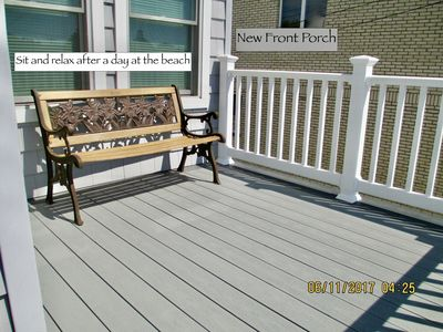 NEW front porch, sit back and relax!