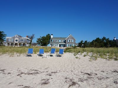 Photo for Steps out the door to a private sandy beach all for you!  NEW TO RENTAL MARKET.