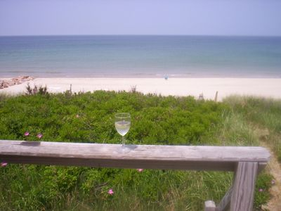 Photo for Oceanfront Cottage on East Sandwich Beach -