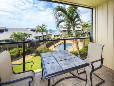 Photo for Pacific View+Chic Decor! Relaxing Lanai, Kitchen, WiFi, Washer/Dryer–Makahuena 2201