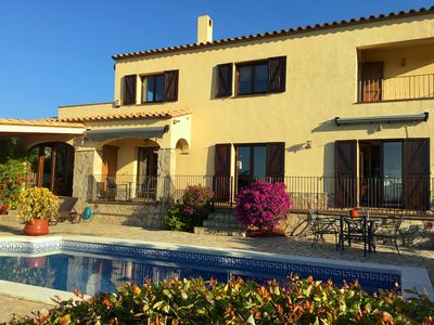 Photo for FABULOSA! EXCEPTIONAL VILLA, SEA + MOUNTAIN VIEWS, WALK TO VILLAGE, SUPERB POOL.