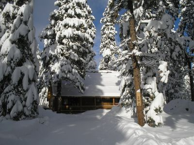 The Mackey Log Cabin in a Winter's Wonderland!