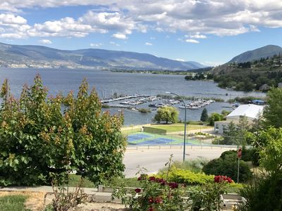 Photo for New! Best beach access + lake-views in Summerland! All on 1 level. Central A/C.