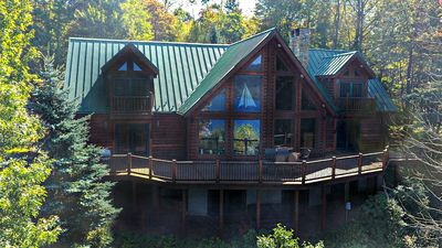 Photo for Cooper's Run- Log Home with Beautiful Wood Views in Central Deep Creek Lake