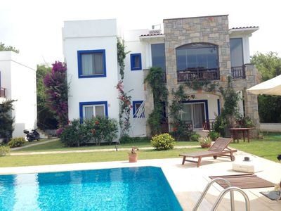 Photo for Garden Flat inYalikavak centre, 200m to the sea, Palmarina. Pool shared with 6