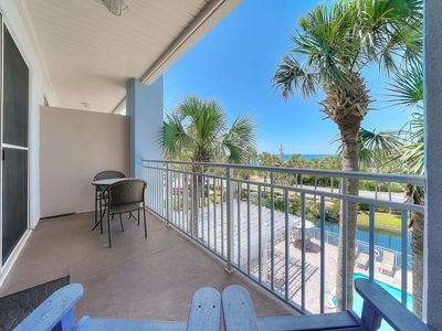 Photo for Bright, open villa w/ balcony overlooking gulf + minutes to great entertainment!