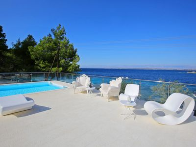 Photo for Seafront Villa Borna, in Dalmatia,with a Pool