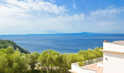 Photo for Sunny and bright VILLA L'INCANTO with pool, terrace, parking and sea view