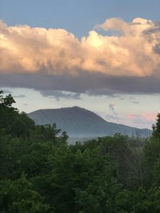 Cool clouds above Bluff Mountain